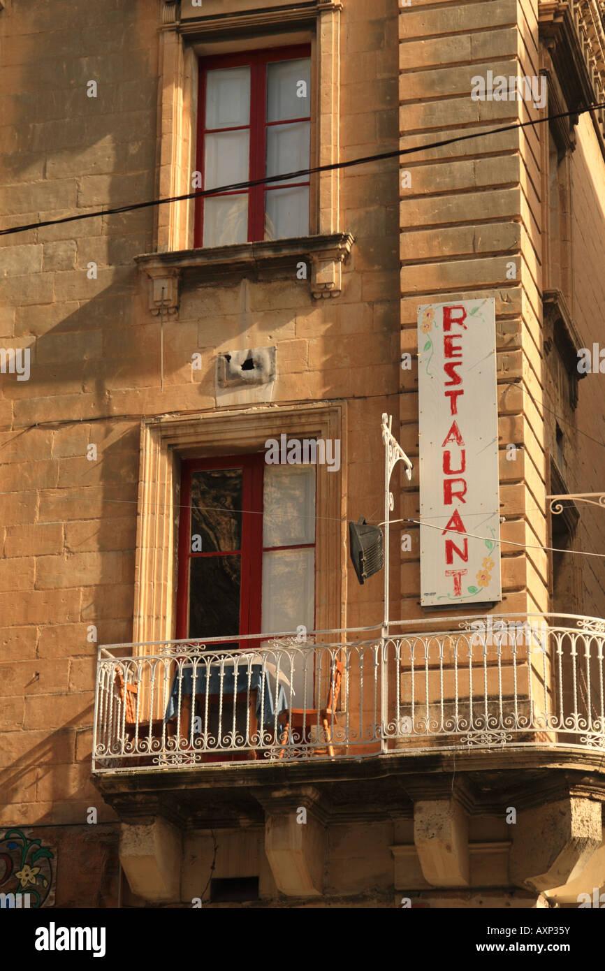 Very small restaurant, Valletta, Malta - Stock Image