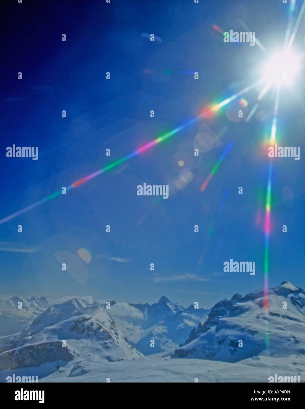 0401 Sun burst - Stock Image