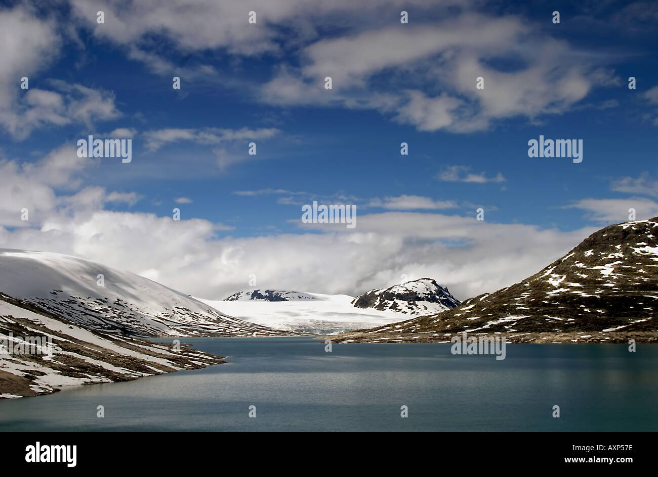 Lake at the Jostedals Glacier, Norway. - Stock Image