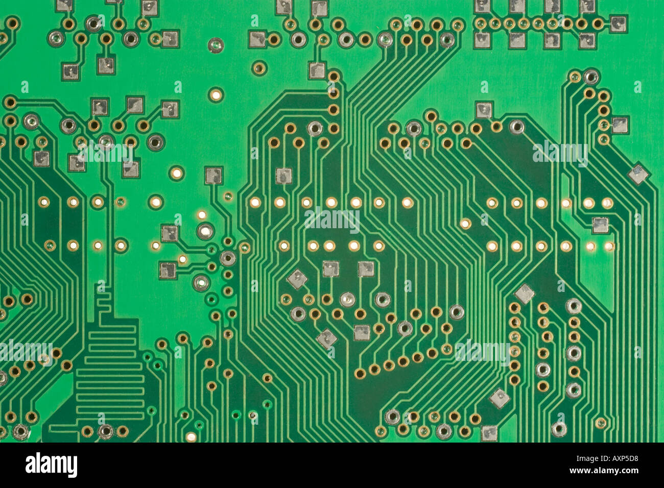 Pcb Printed Circuit Board Backside Stock Photo 3139031 Alamy