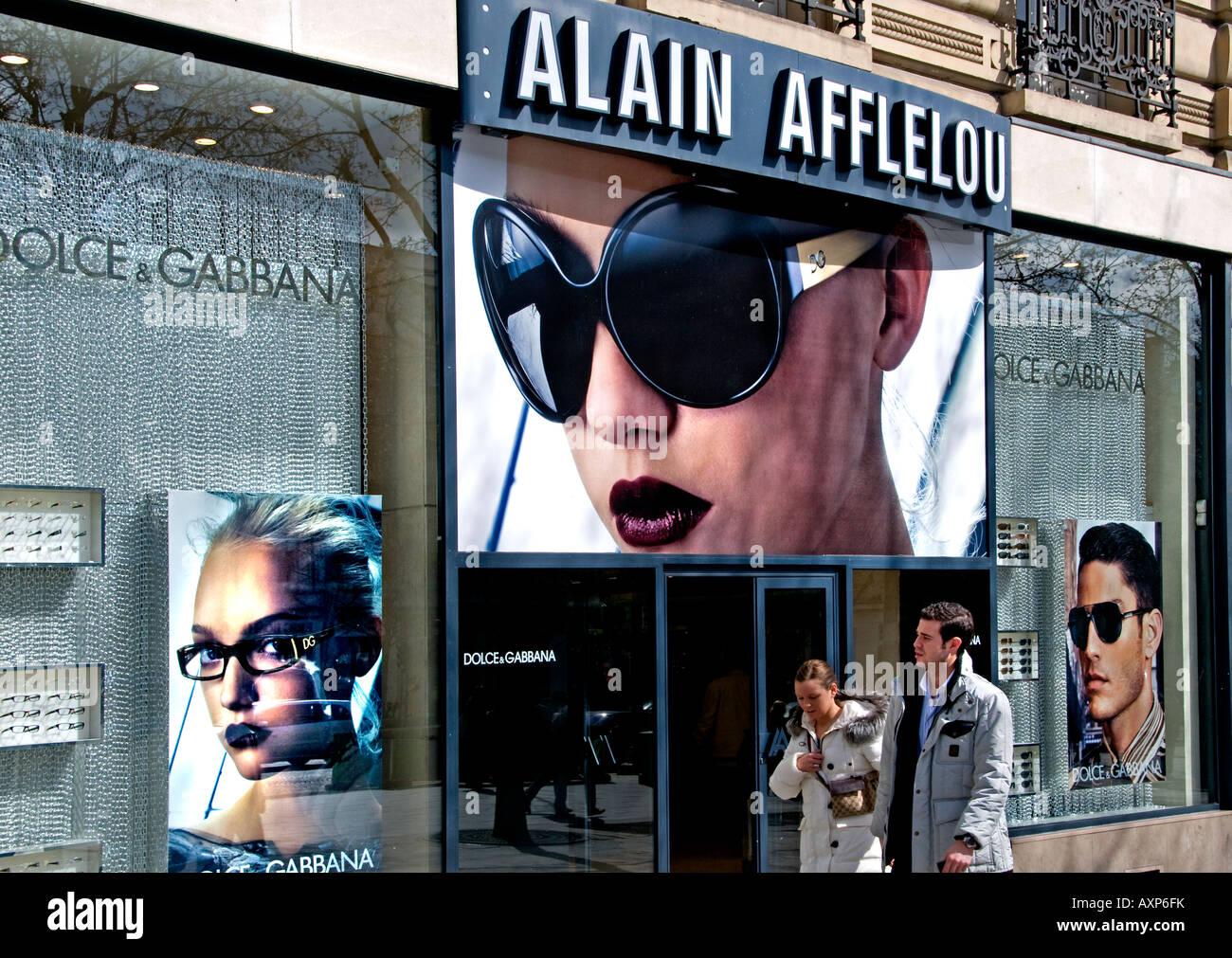 Alain Afflelou Champs-Elysees Dolce Gabbana spectacles sun glasses optician 099ca0fcd95d