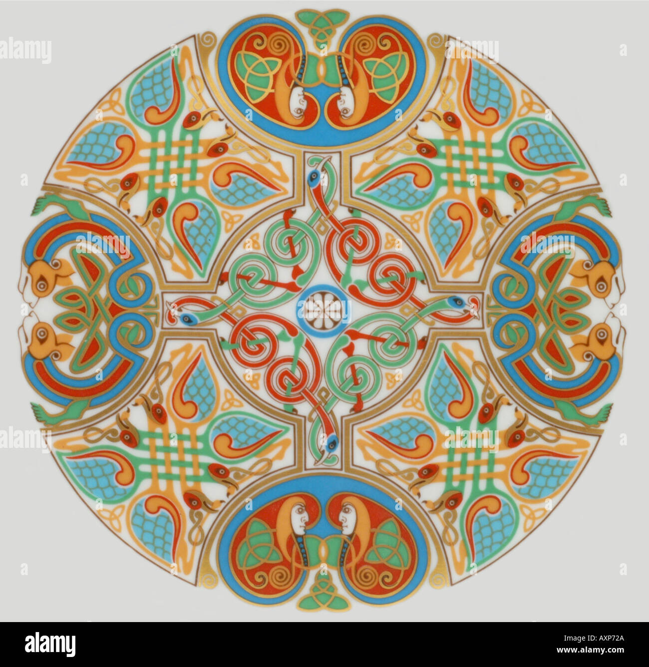 lindisfarne Spode china plates with Celtic designs inspired by the Christian Gospels - Stock Image  sc 1 st  Alamy & Crockery Plates Ceramics China Stock Photos u0026 Crockery Plates ...
