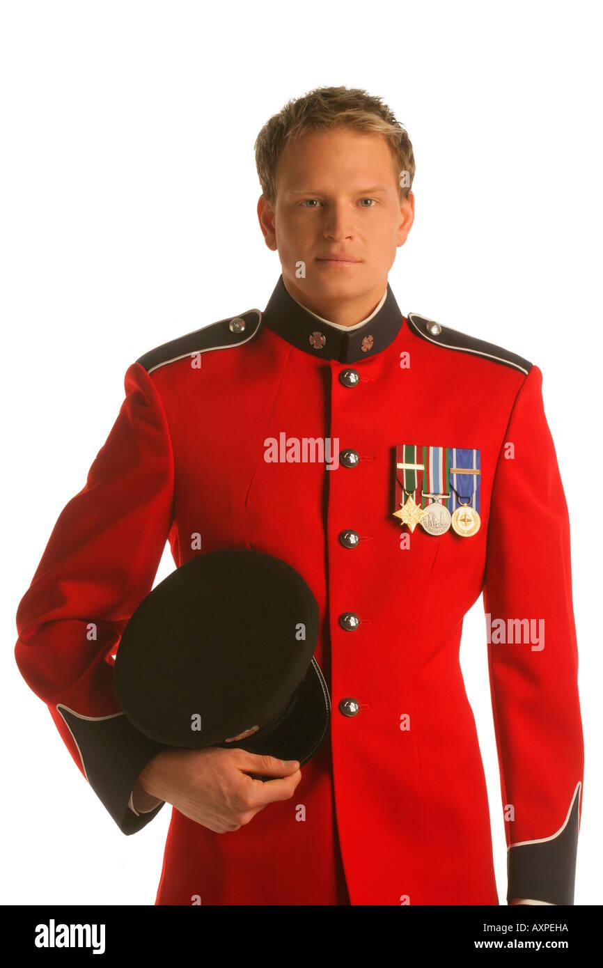Officer in dress uniform - Stock Image