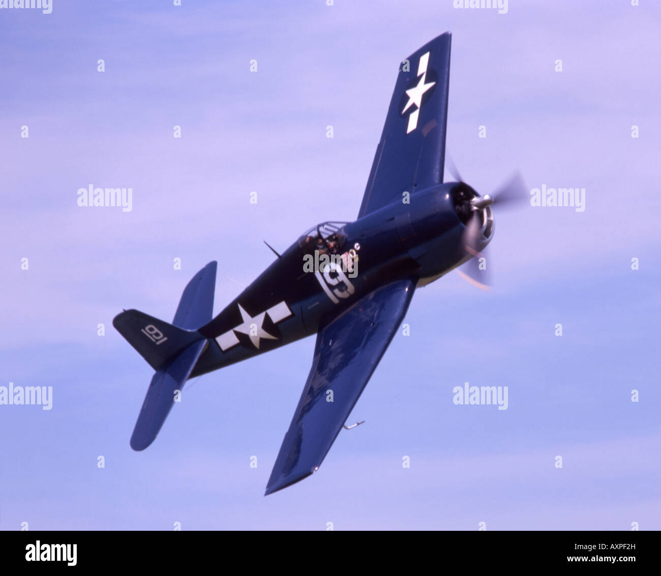 Grumman Hellcat American fighter aircraft from world war two - Stock Image