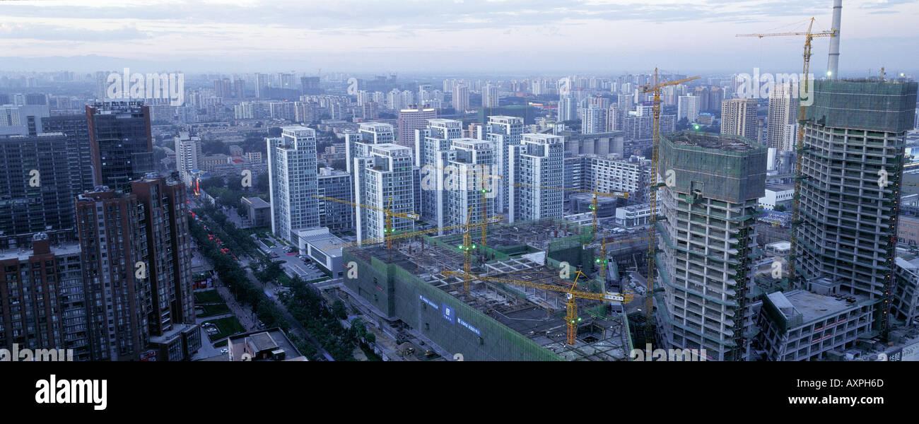 Beijing CBD, China. Panorama. July 29, 2005 Stock Photo