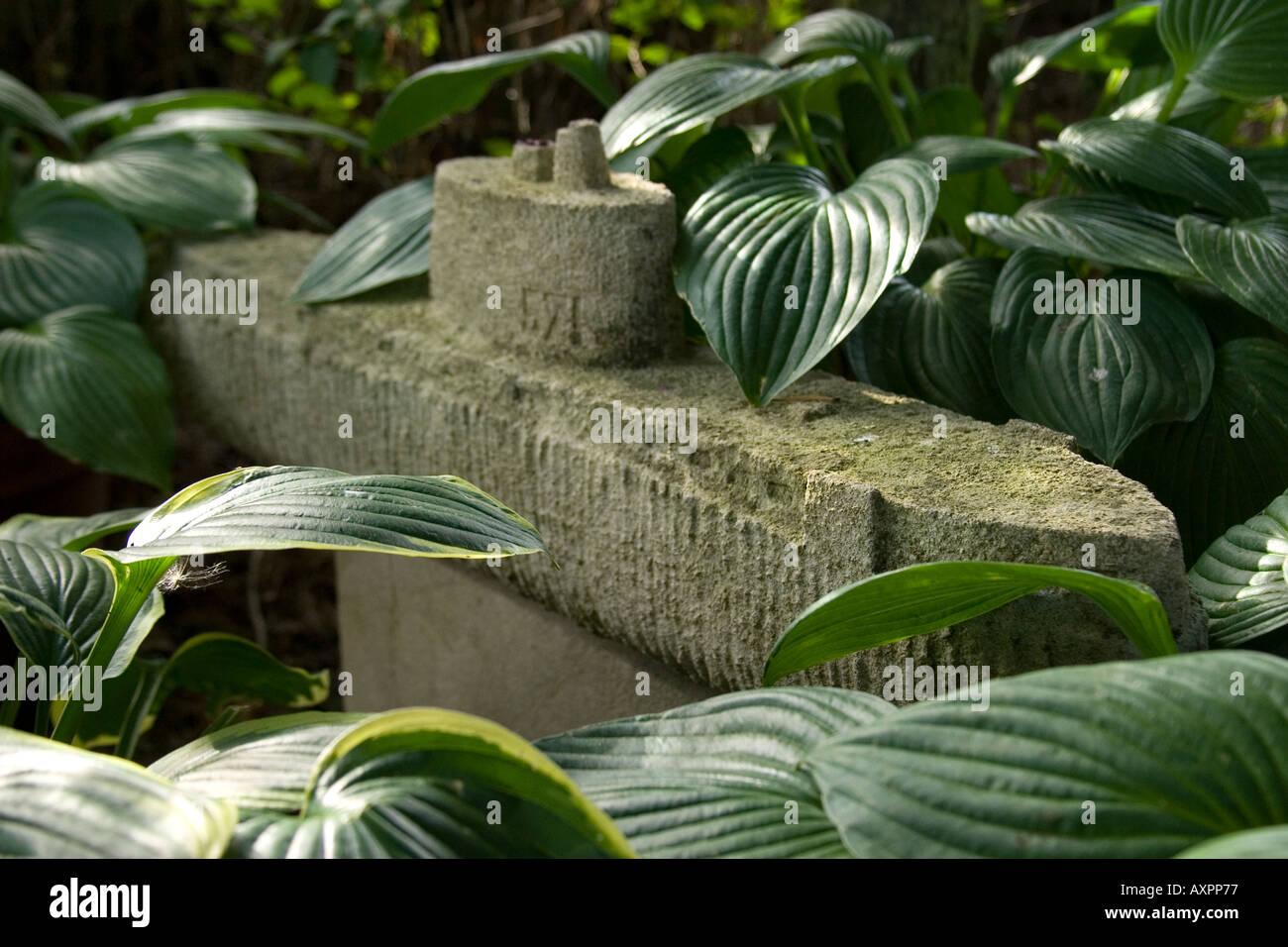 Navy Sculpture. Ian Hamilton Finlay's Garden, Little Sparta. - Stock Image