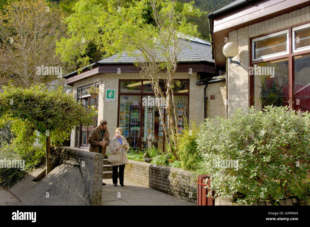 People Corris Craft Centre North West Wales Stock Photo