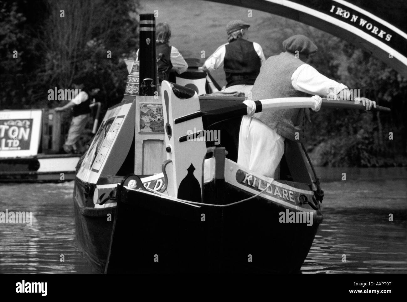 PICTURE CREDIT Doug Blane Narrowboat on the canal Stock Photo