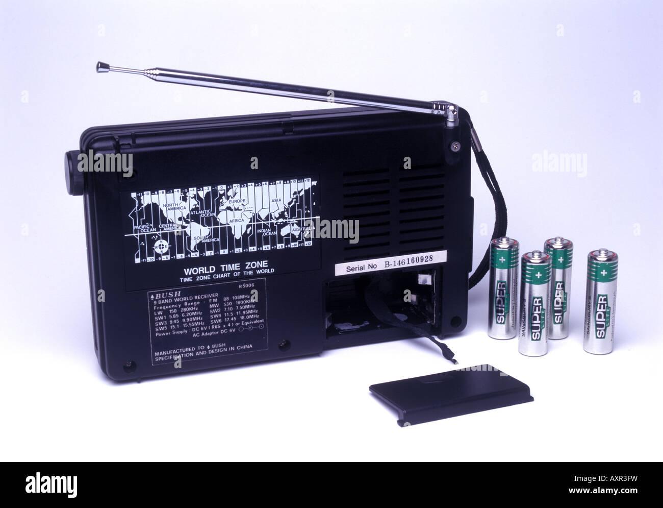 portable radio world time zone - Stock Image