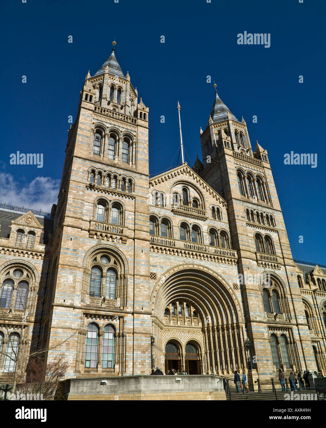 main entrance, Museum of Natural History, London - Stock Image
