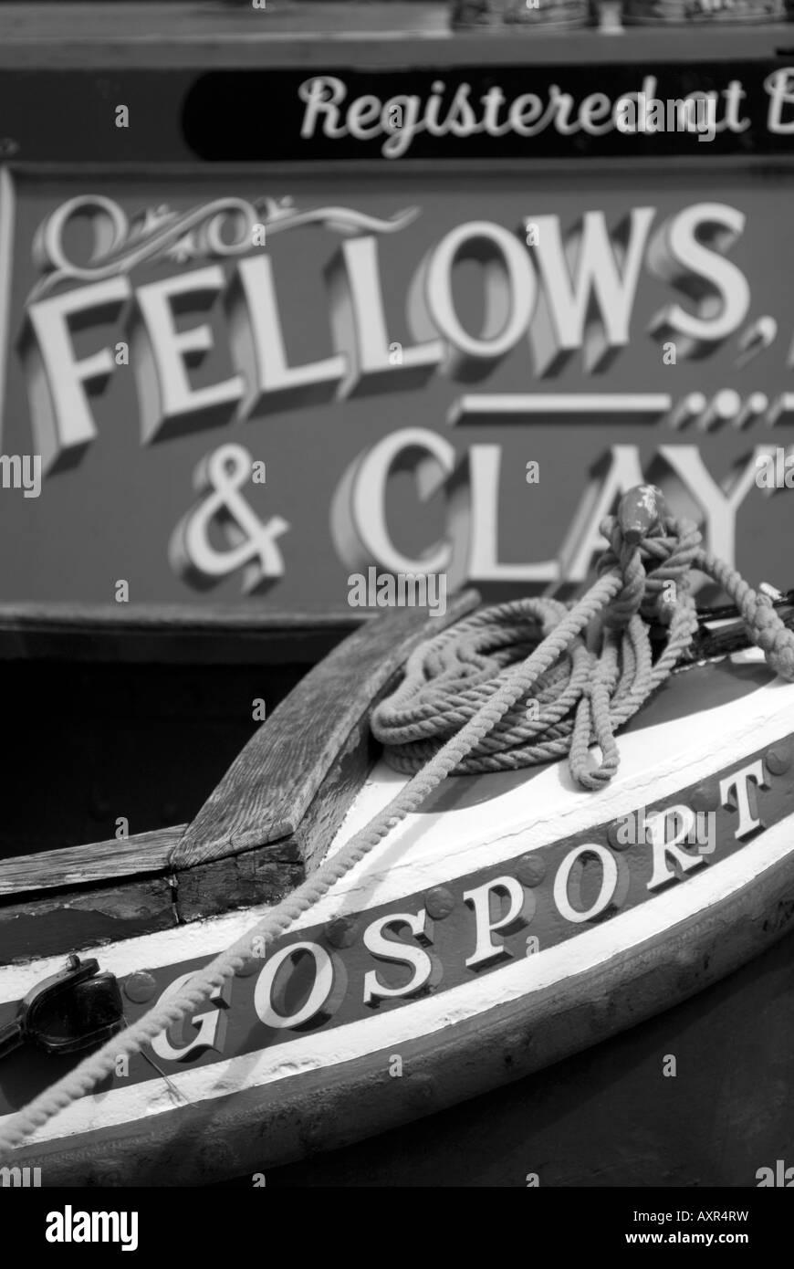 Doug Blane Narrowboat on the canalStock Photo