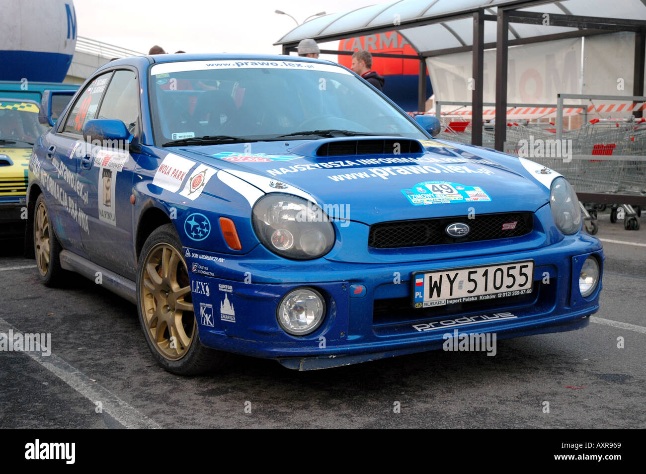 Subaru Racing Car Street Racing Car In Warsaw Poland Stock Photo Alamy