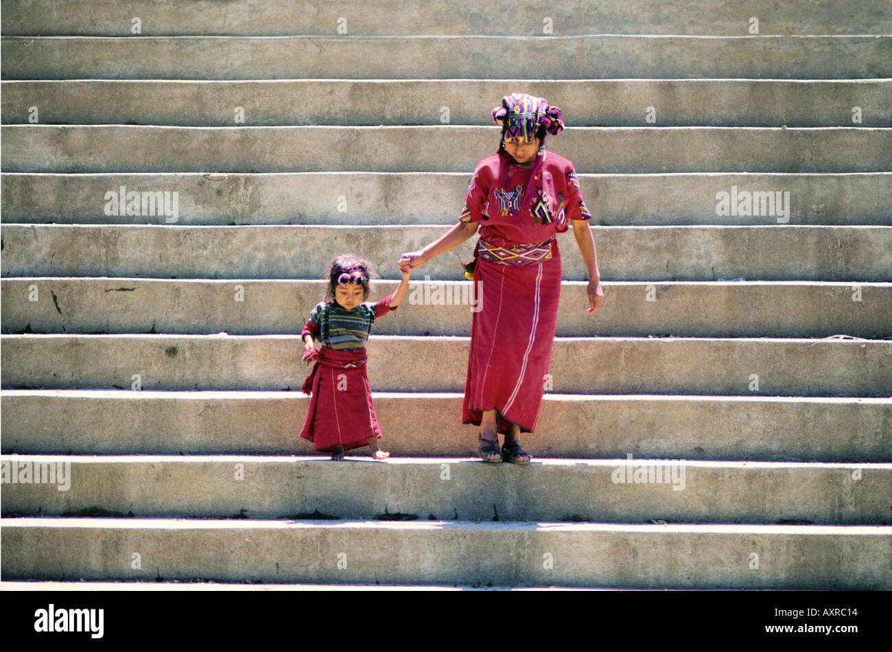 Ixil Mother and child Chajul Guatemala - Stock Image