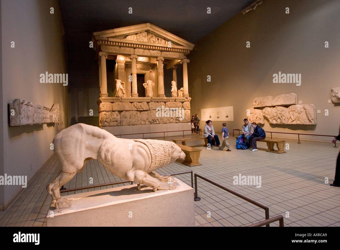 Ancient Greek Exhibits in British Museum London England London GB UK - Stock Image