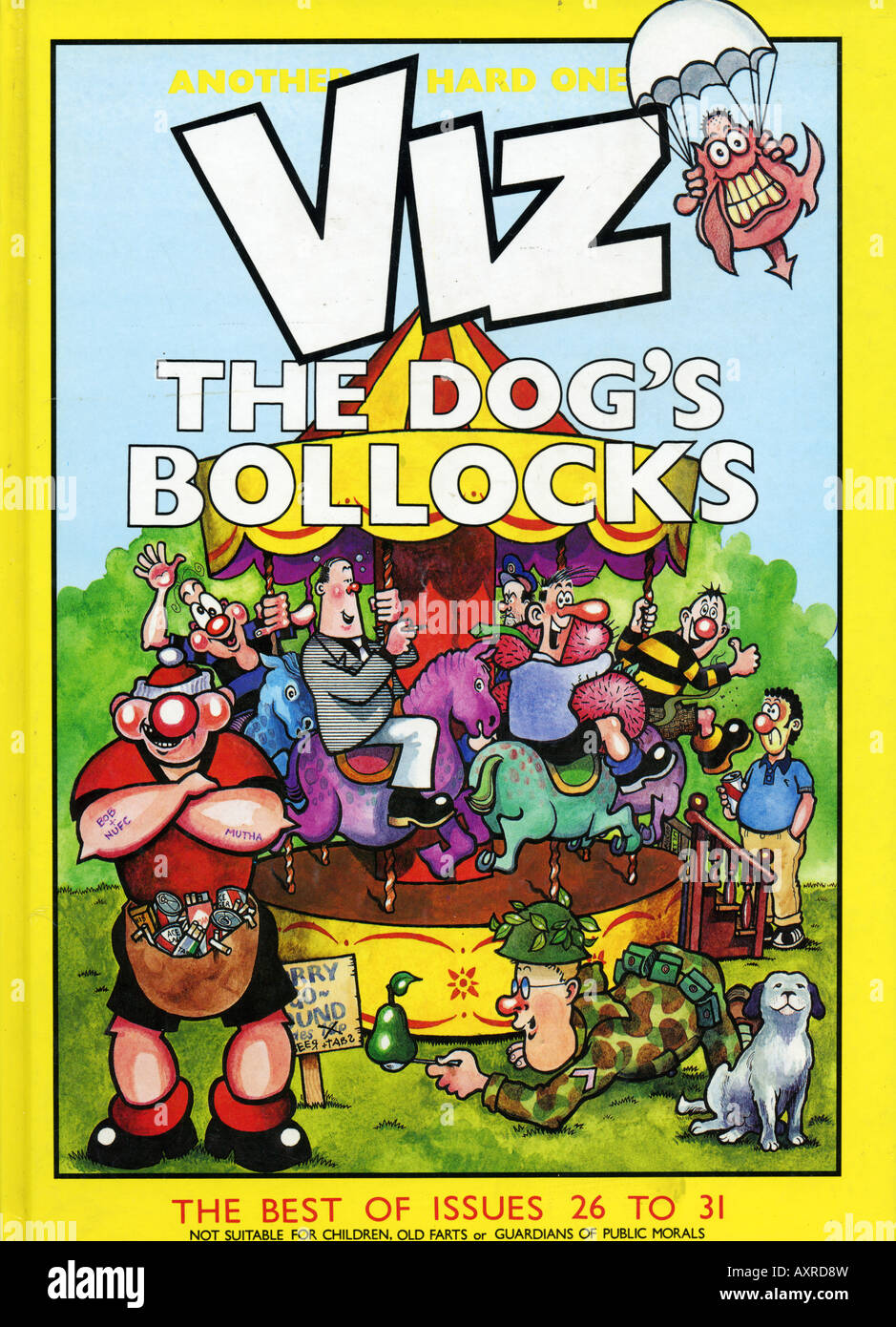 1980s 1989 Viz Comic Annual Issues 26 to 31 FOR EDITORIAL USE ONLY - Stock Image
