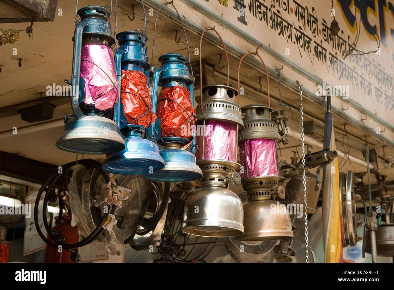 kerosene - oil lamp for sale India - Stock Image