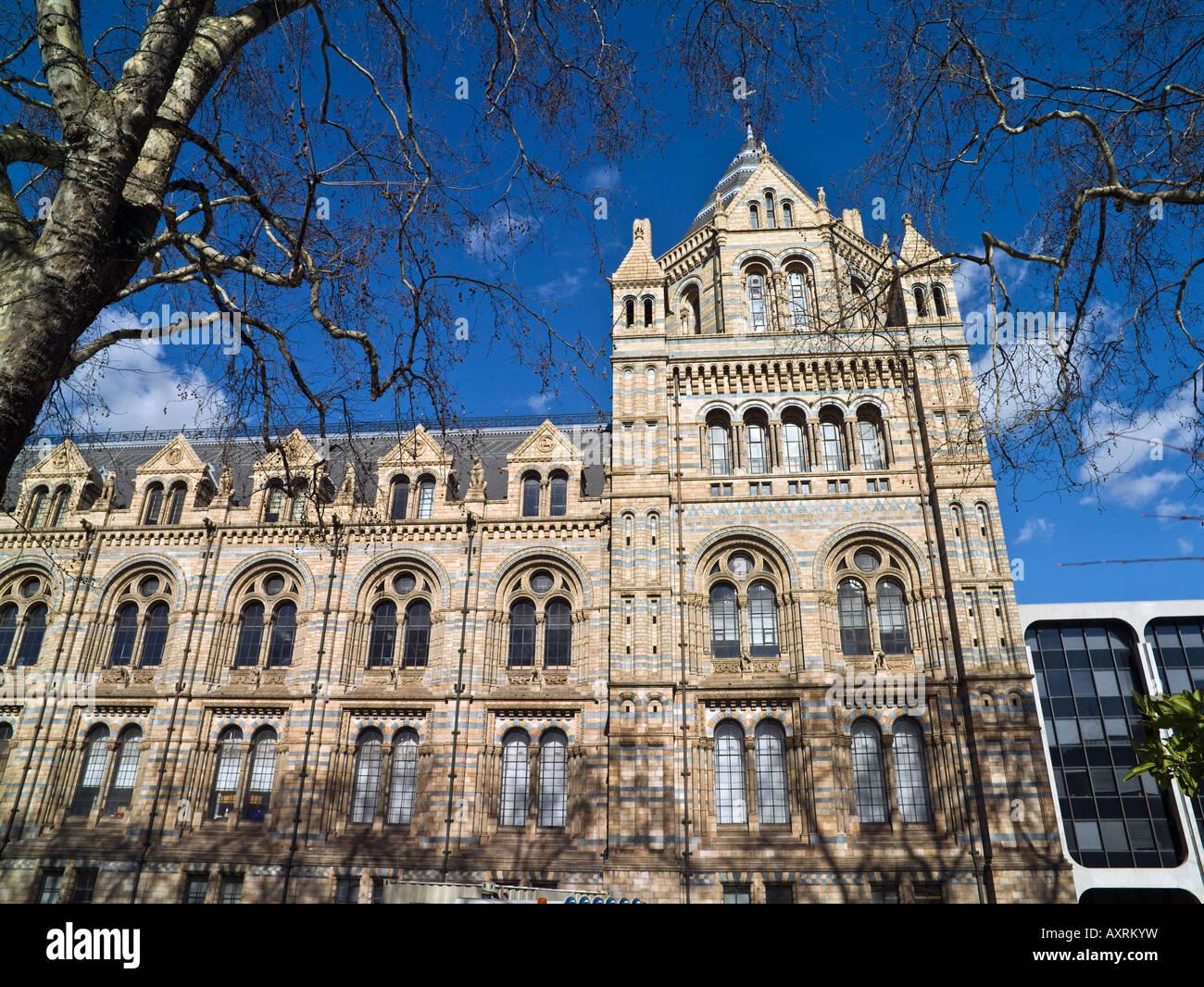 main facade, Museum of Natural History, London - Stock Image
