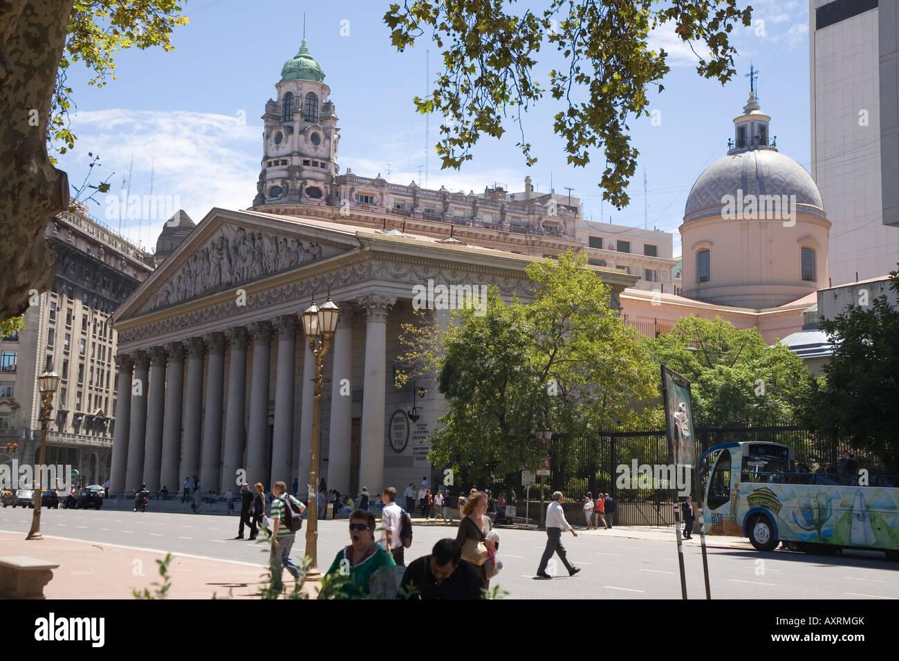 San Martin's tomb at Catedral Metropolitana, Buenos Aires - Stock Image