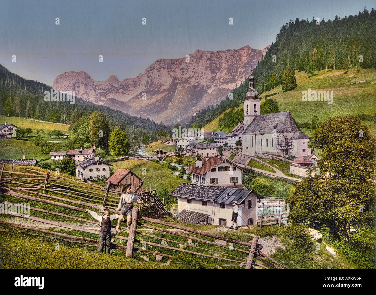 Village Ramsau Bavaria Stock Photo