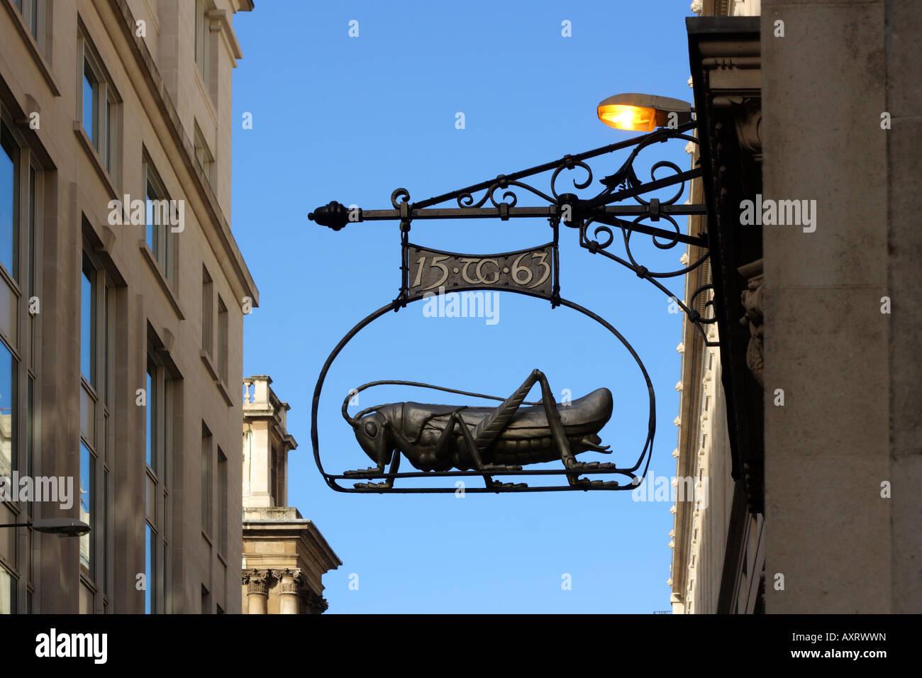 Commemorative trade sign in Gresham Street, London - Stock Image