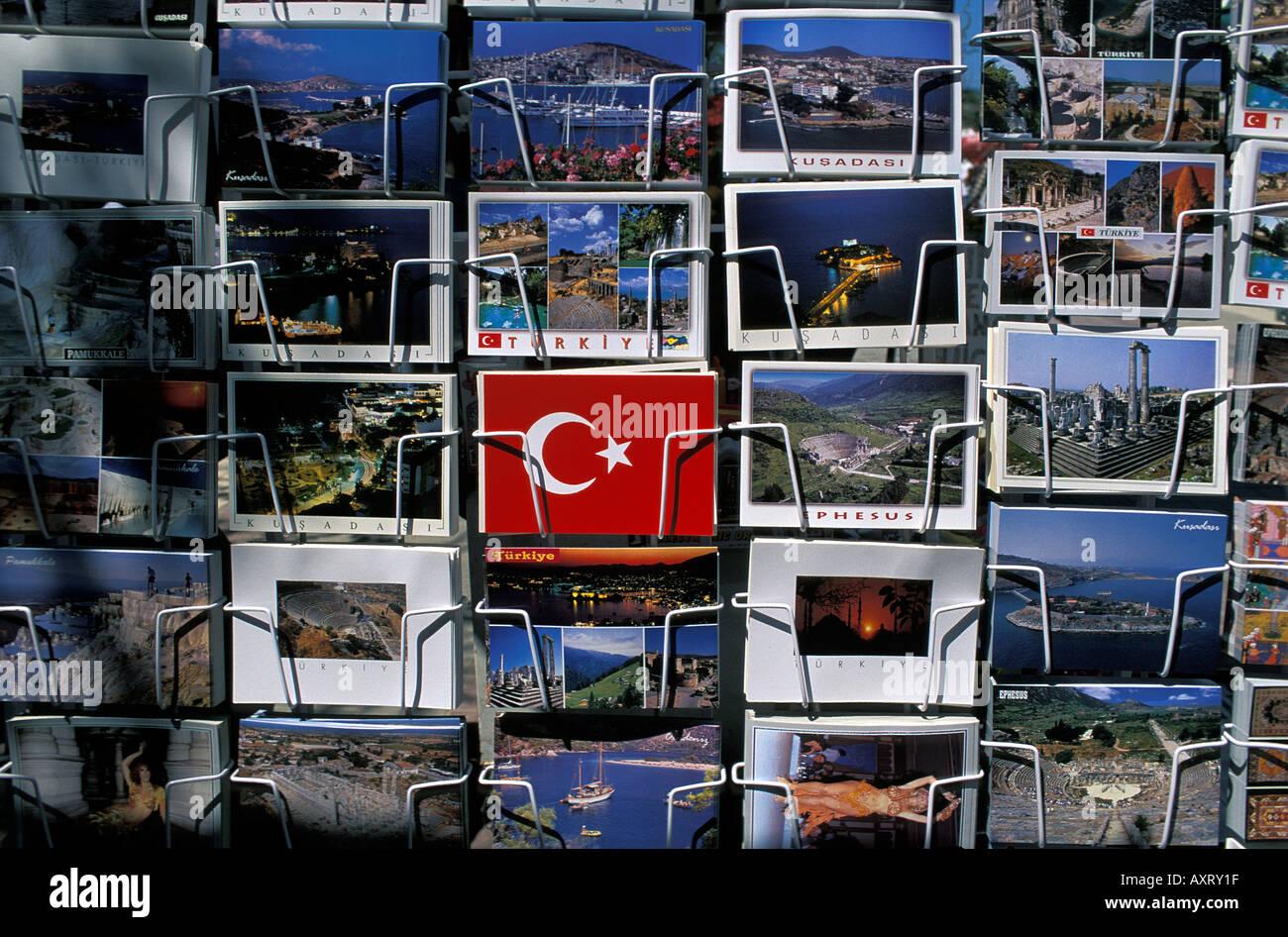 postcards at Ephesus - Stock Image