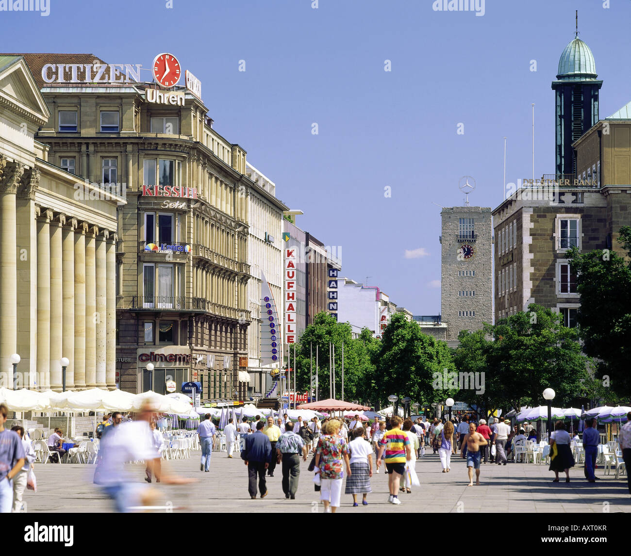 geography / travel, Germany, Baden-Wuerttemberg, Stuttgart, street scenes, Koenigstrasse, pedestrian precinct / - Stock Image