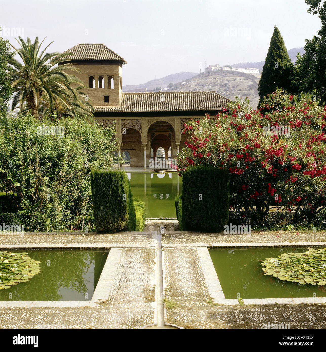 geography / travel, Spain, Granada, Alhambra, Torre de las Damas (tower of the women) with gardens, , Additional - Stock Image