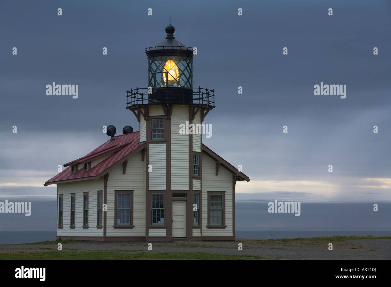 Point Cabrillo lighthouse, California, - Stock Image