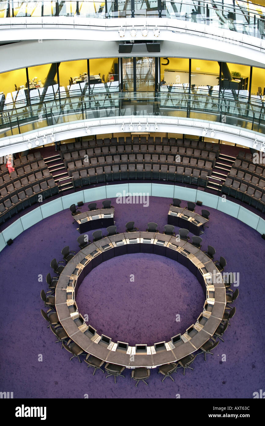 Interior of GLA City Hall in London - Stock Image