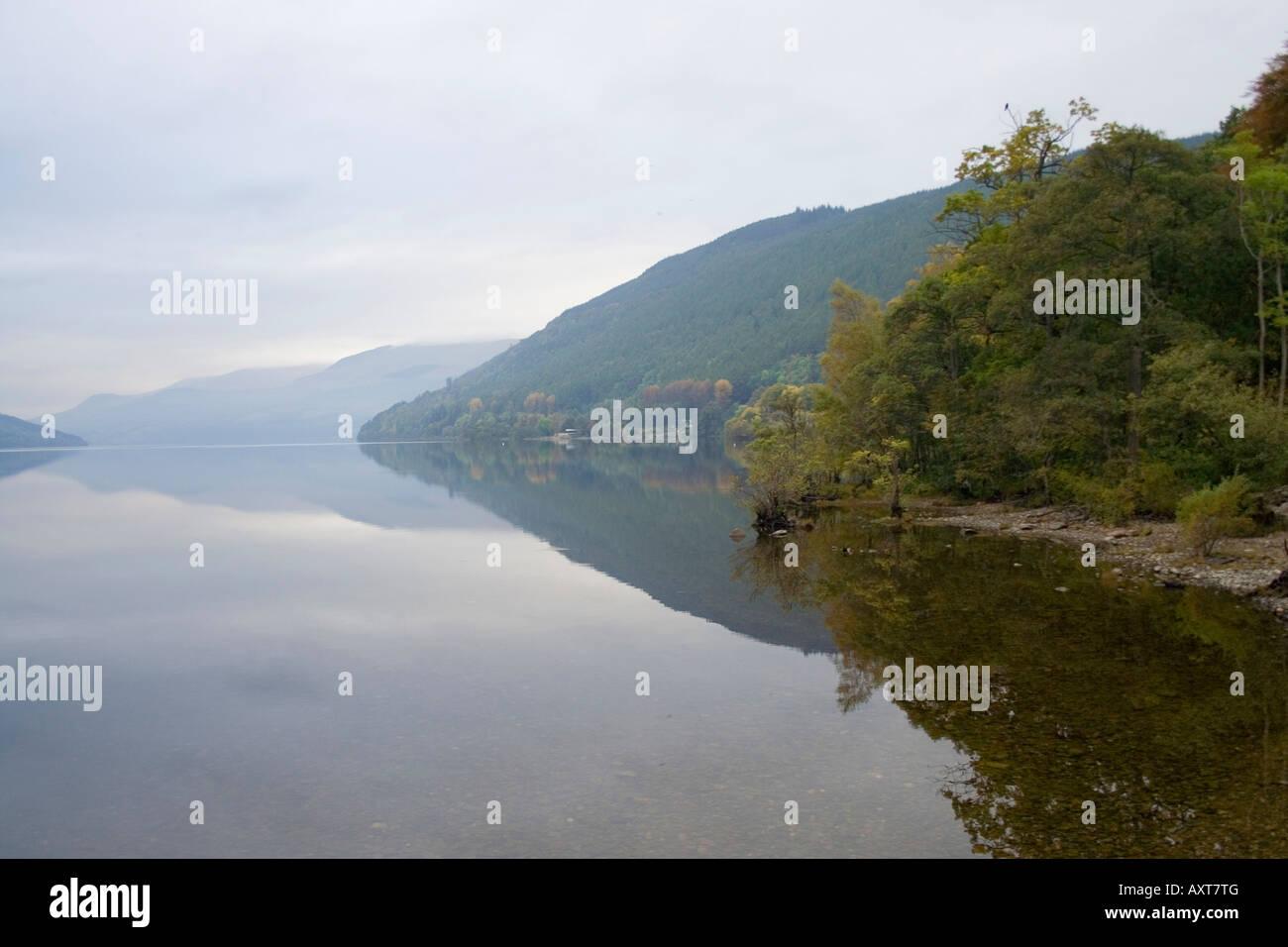 Beautiful mountain lake in the autumn - Stock Image