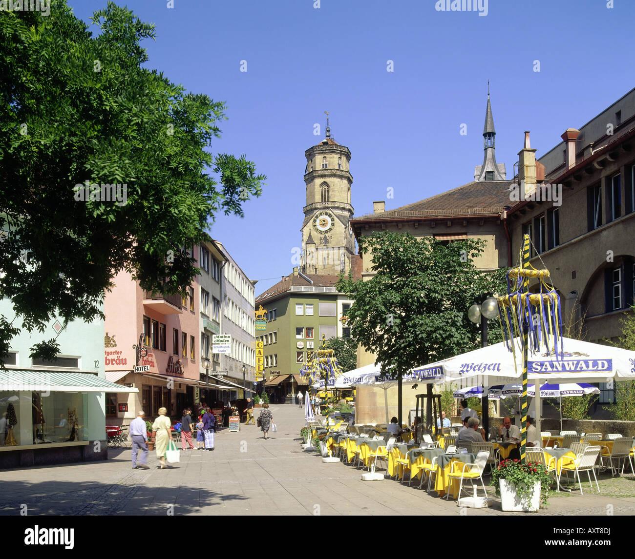 geography / travel, Germany, Baden-Wuerttemberg, Stuttgart, street scenes, pedestrian precinct / pedestrian area - Stock Image