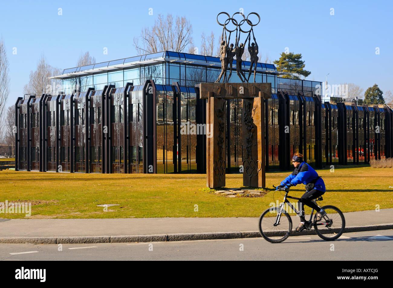 International Olympic Committee IOC headquarters Lausanne Switzerland - Stock Image