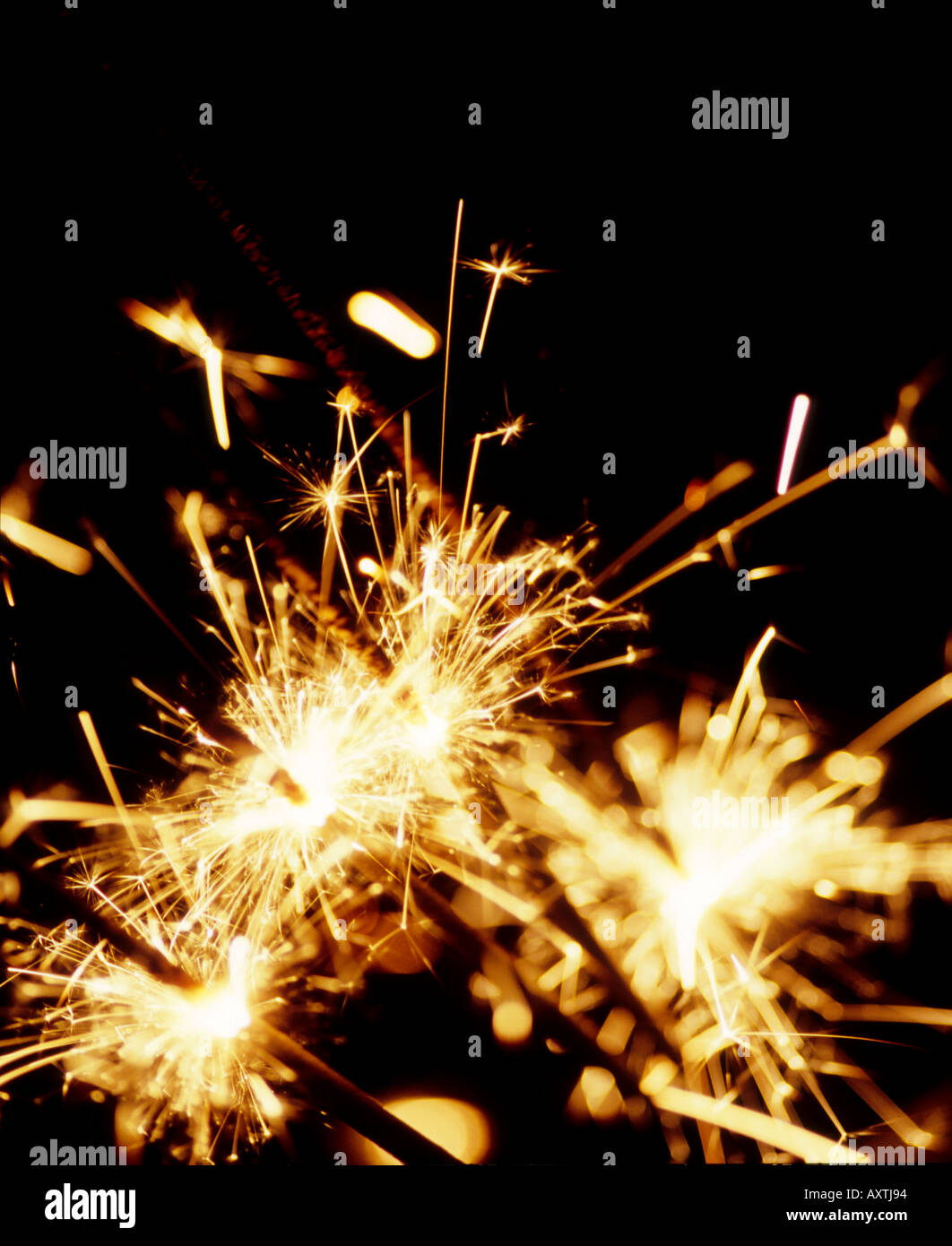 Sparklers on Guy Fawkes Night - Stock Image