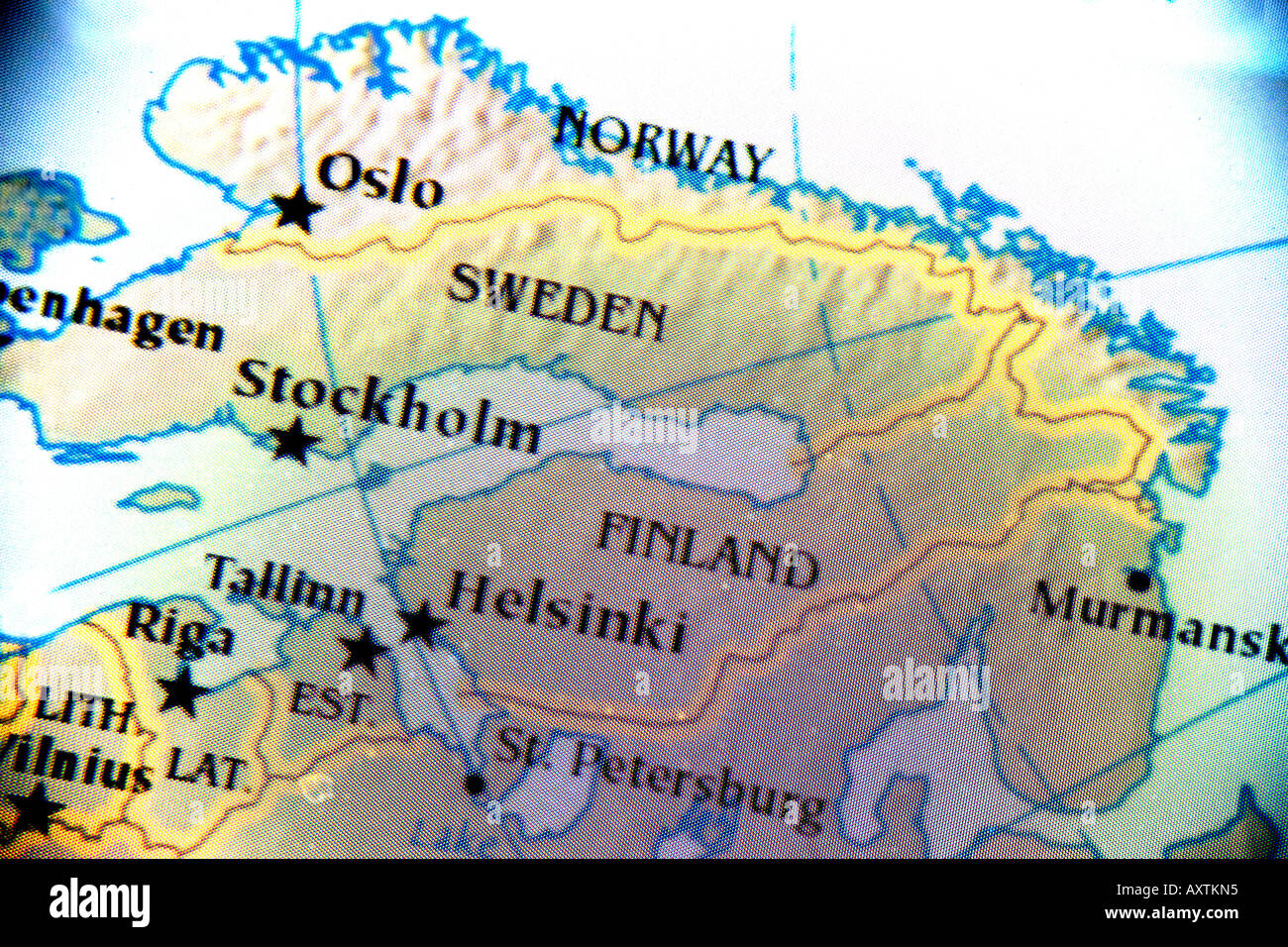 Close up map showing the nordic countries norway finland and close up map showing the nordic countries norway finland and sweden gumiabroncs Gallery