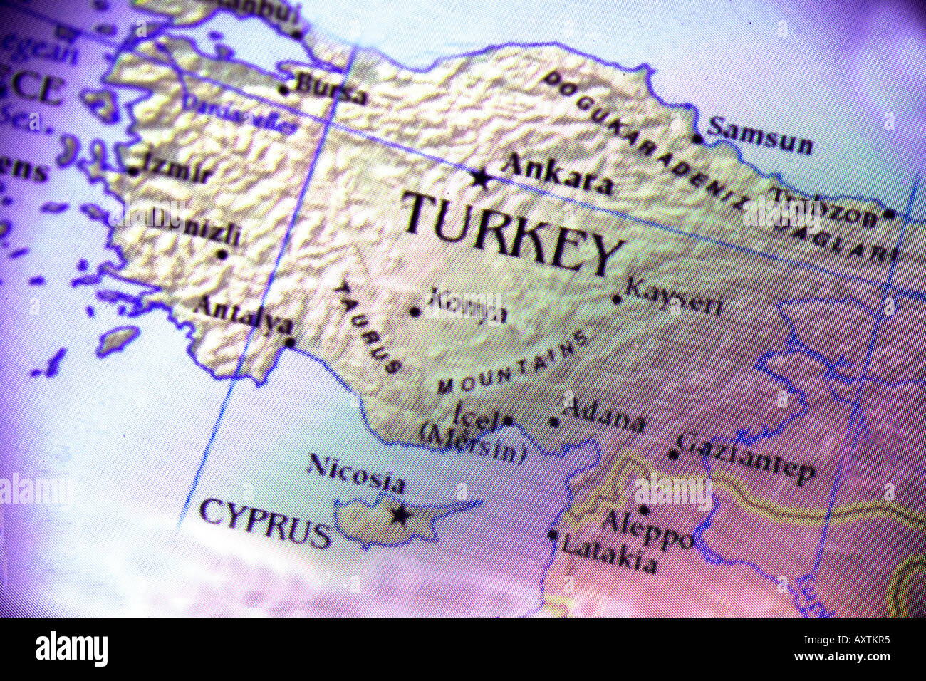 Close up map showing the countries turkey and cyprus in the middle close up map showing the countries turkey and cyprus in the middle east gumiabroncs Image collections