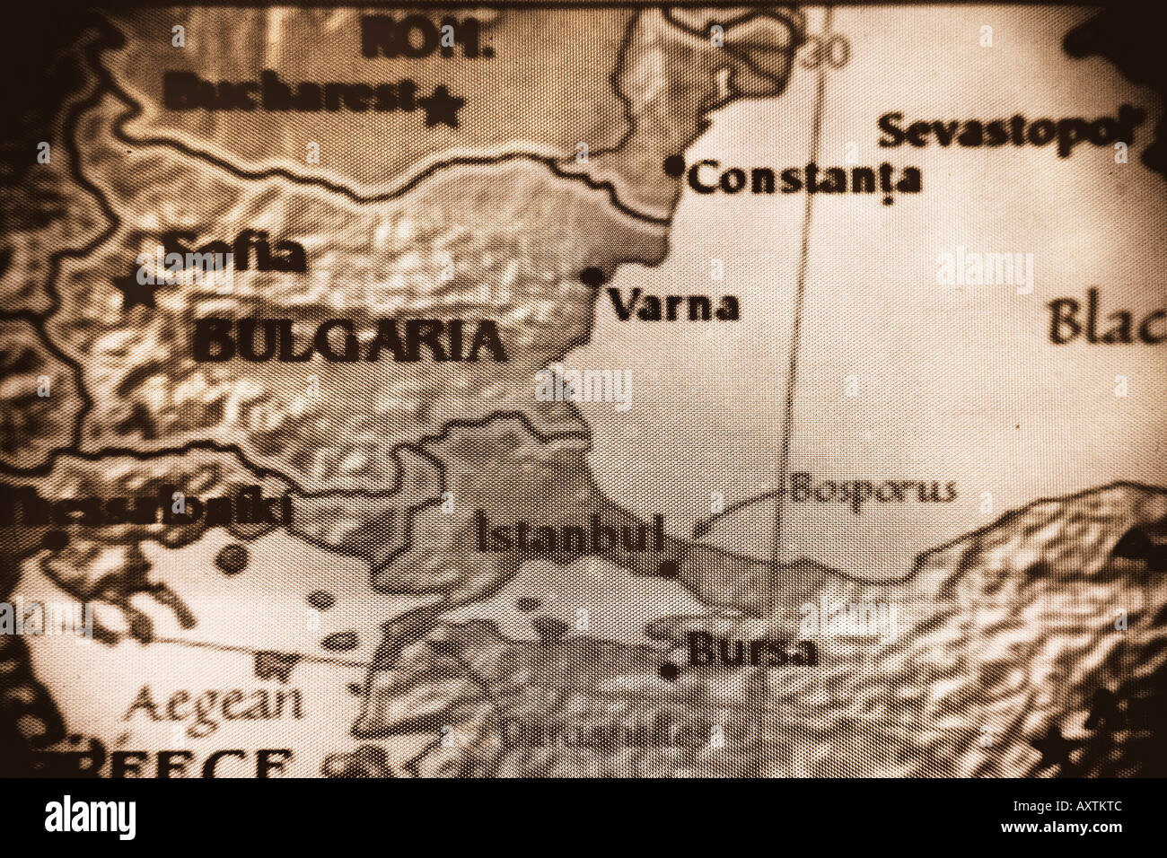 Close up map of the countries of bulgaria and romania in eastern close up map of the countries of bulgaria and romania in eastern europe gumiabroncs Images