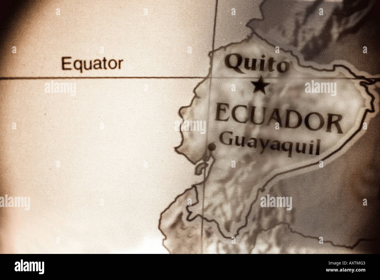 Where Is Ecuador Located On The World Map.Current Map Of The Country Of Ecuador Located In South America Stock