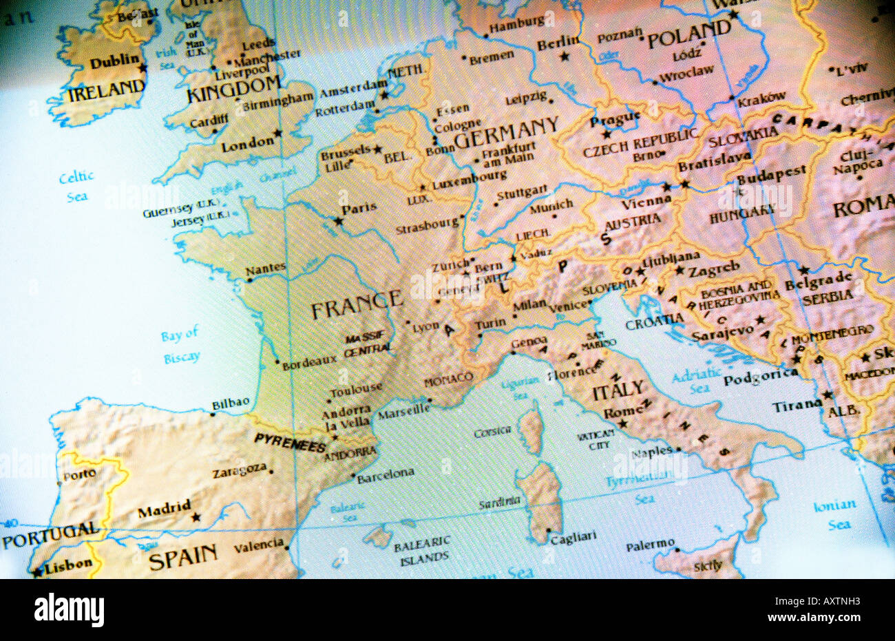 Current Map Of Europe Stock Photo 9666514 Alamy