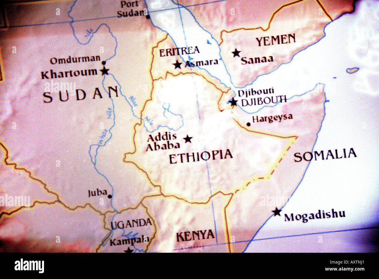 Current Map Of Africa.Current Map Showing The Countries Of Sudan Ethiopia Kenya