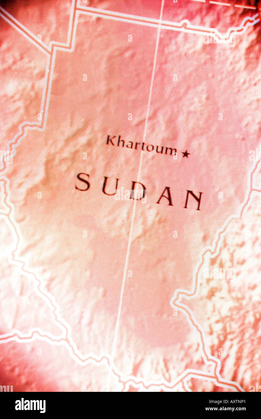 Current map of the country of Sudan located in Africa Stock Photo ...