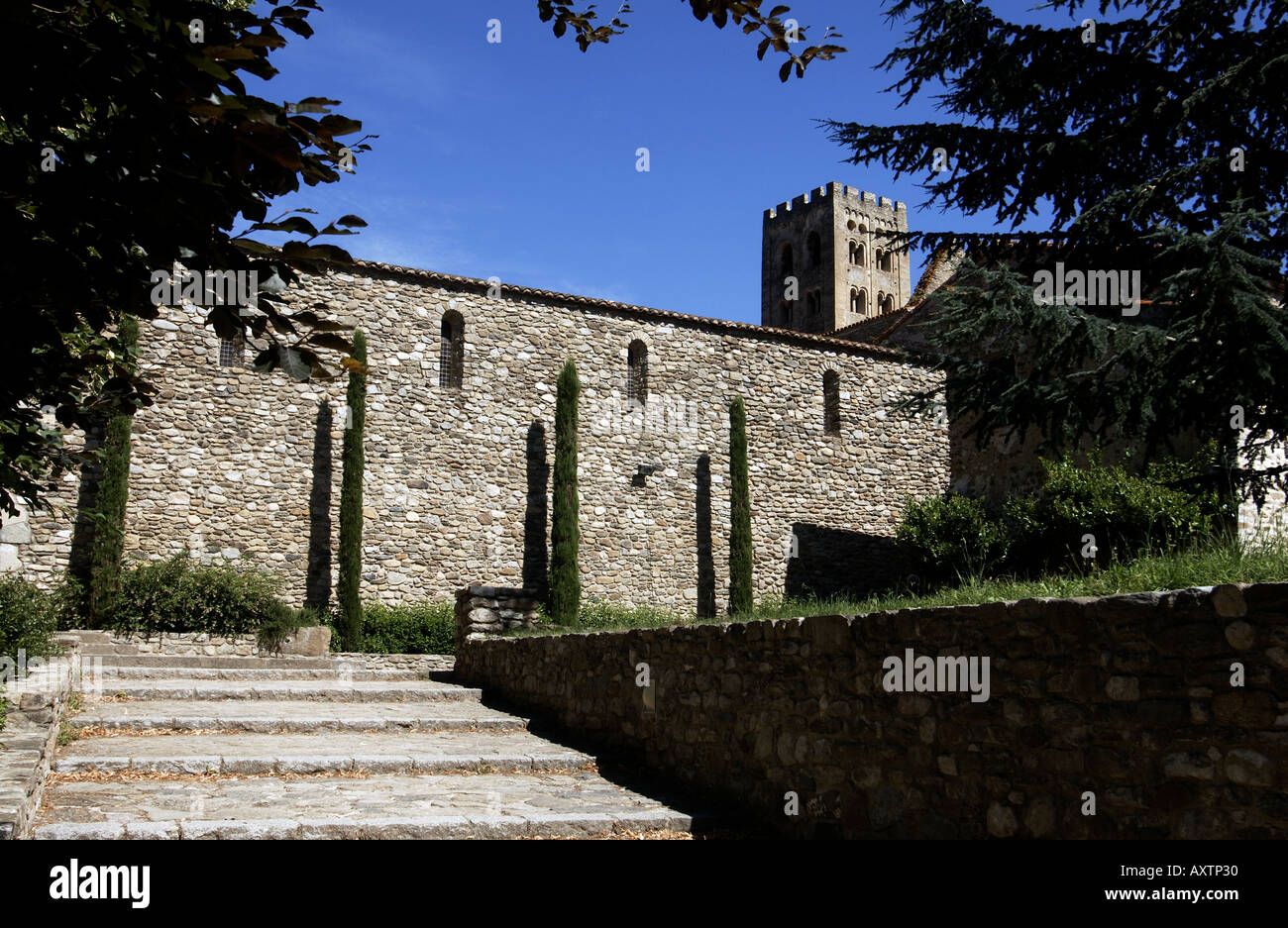 monastery or abbey of saint michel in cuxa departement pyrenees orientales Stock Photo