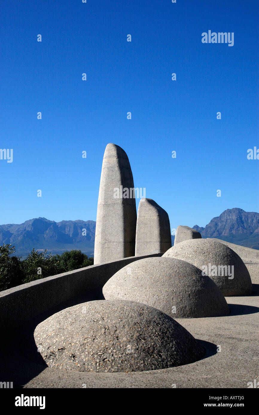 afrikaans language monument paarl western cape province south africa - Stock Image