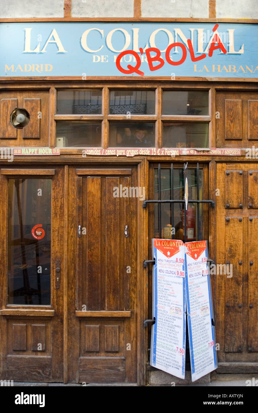 La Colonial Cafe Bar in Madrid, Spain Stock Photo: 16918604