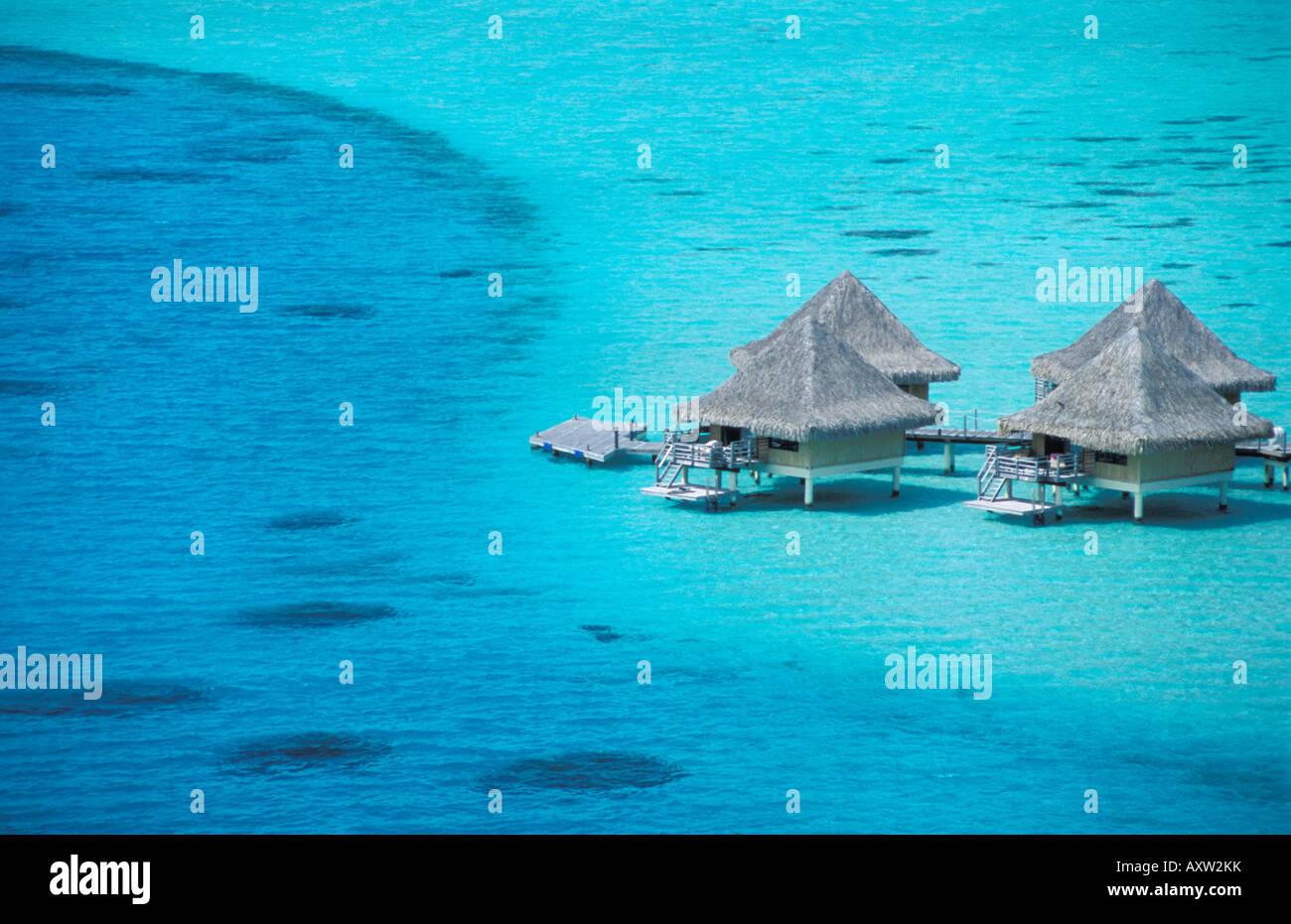 Water Bungalows On Stilts Of The Beachcomber Hotel Bora Bora