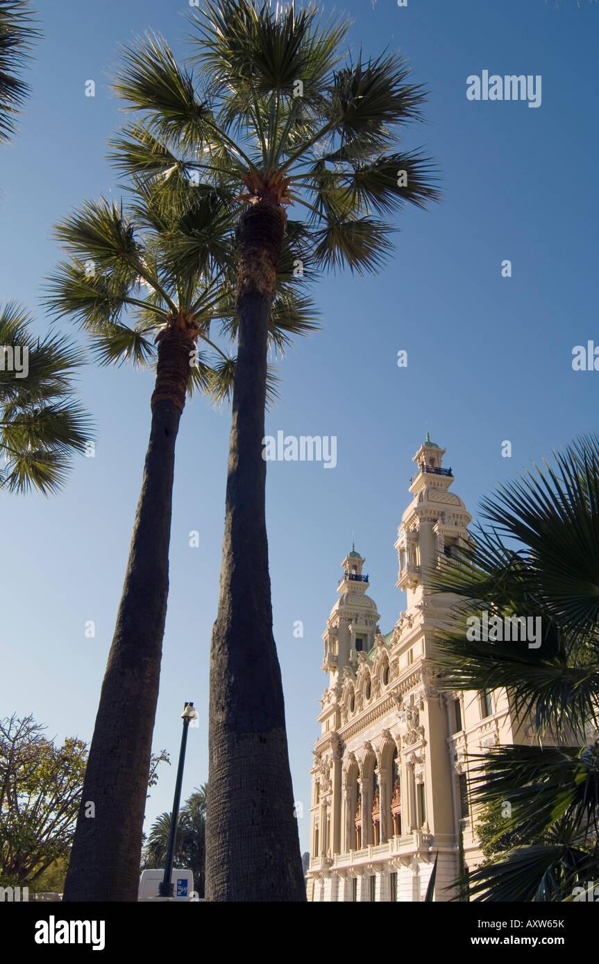 Casino, Monte Carlo, Principality of Monaco, Cote d'Azur, Mediterranean, Europe - Stock Image