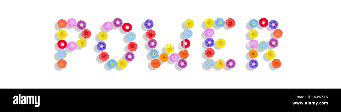 Symbol For Flower Power Written With Flowers Stock Photo 9669173