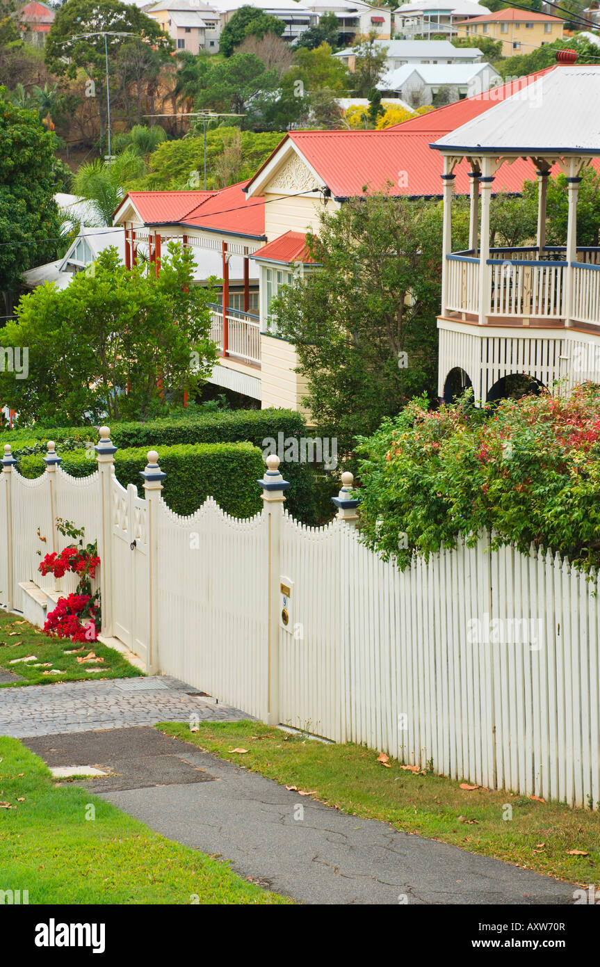 Historic houses, Paddington, Brisbane, Queensland, Australia, Pacific - Stock Image