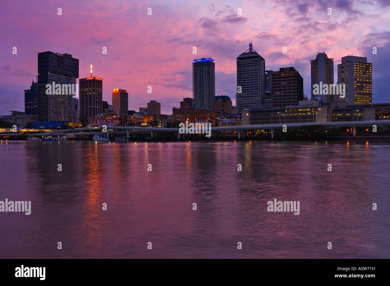 Brisbane skyline and Brisbane River, Queensland, Australia, Pacific - Stock Image