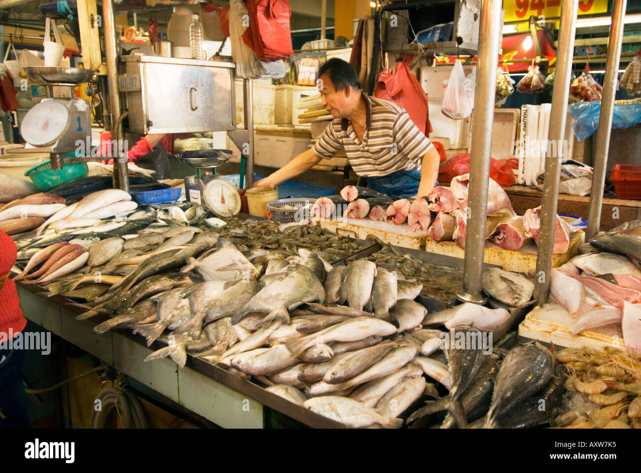 tekka centre little india fishmarket fish market singapore wet market stock photo 9669236 alamy. Black Bedroom Furniture Sets. Home Design Ideas