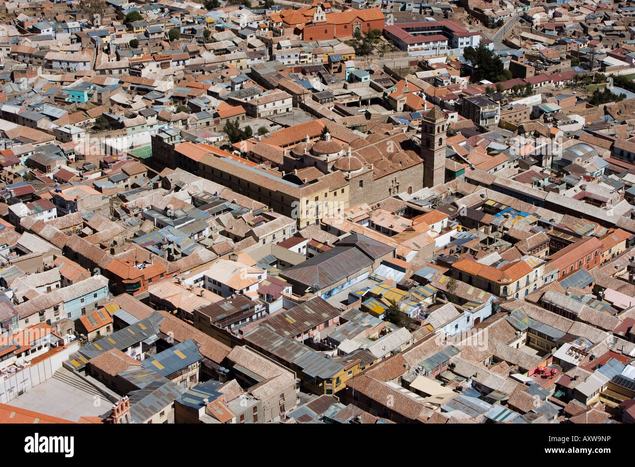 Aerial view, Potosi, Bolivia, South America - Stock Image